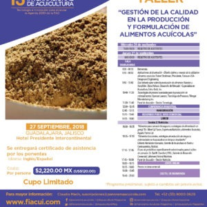 """Taller """"Gestión De La Calidad En La Producción Y Formulación De Alimentos Acuícolas"""""""