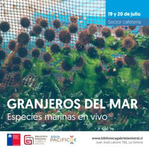"""""""Granjeros Del Mar"""", De AquaPacífico, En Biblioteca Regional De La Serena En Chile"""